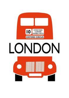 London Bus Letterpress Cards by Archivist