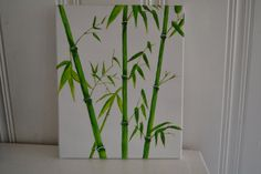 Hey, I found this really awesome Etsy listing at https://www.etsy.com/listing/110978162/bamboo-canvas-painting