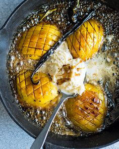 ''This is a great end to a spicy meal. It makes more ice cream than you need but it's so good you won't want to stop eating it. To simplify the recipe, serve the mango with coconut yogurt instead of making ice cream.'' – the late food writer Valli Little