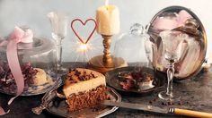 Cake with heart sparkler gif, celebration