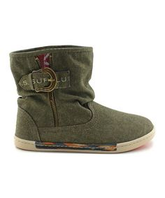 Take a look at this Olive Canvas Skeet Boot by TigerBear Republik on #zulily today!