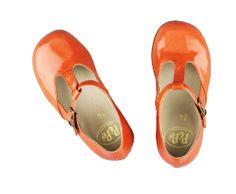 PePe vernice | Little Vida cute orange shoes