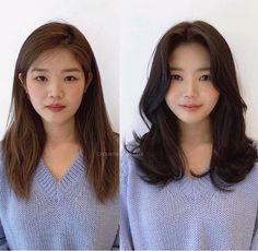 Medium Thin Hair, Medium Hair Styles, Short Hair Styles, Medium Long, Korean Long Hair, Korean Hair Medium, Korean Haircut Long, Korean Hairstyle Long, Korean Bangs
