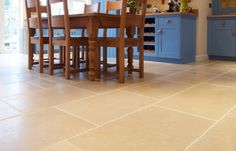 Natural stone flooring is perfect for kitchen floors & counters, whether they are contemporary, traditional, minimalist or farmhouse. Kitchen Tiles, Kitchen Flooring, Natural Stone Flooring, Natural Stones, Minimalist, Traditional, Contemporary, Interior, House
