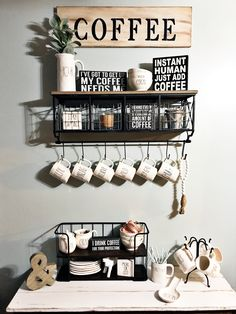 Absolutely love the way my coffee station turned out. Follow Jacqueline Kent on Pinterest