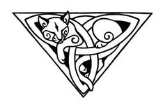 celtic moon | Celtic Knot Tattoo Jpg Triquetra though id change the dimond on the cat to a crescent moon, would be a kool tat #celtic #tattoos