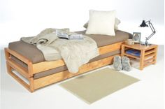 SMALL SPACE SUPERSTARS :: Solid Birch Loop Stacking Bed