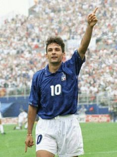 Roberto Baggio of Italy at the 1994 World Cup Finals.