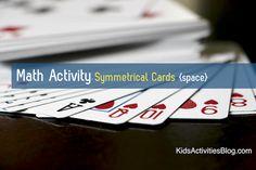 Math Activity: Symmetrical Cards ~ Playing cards are a fun way to teach math for kids! Cool Math For Kids, Math Activities For Kids, Fun Math Games, Math Resources, Homeschool Math, Homeschooling, Eureka Math, Basic Math, Math Concepts
