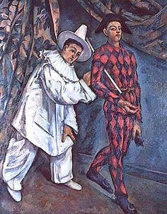 Paul Cezanne Pierrot And Harlequin Mardi Gras 1888 Oil on Canvas print for sale. Shop for Paul Cezanne Pierrot And Harlequin Mardi Gras 1888 Oil on Canvas painting and frame at discount price, ships in 24 hours. Pablo Picasso, Paul Gauguin, Arte Punch, Paul Cezanne Paintings, Cezanne Art, Pierrot Clown, Georges Seurat, Henri Rousseau, Aix En Provence