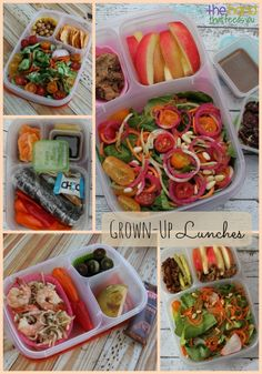 Healthy packed Grown Up Lunches for mama! | packed in @EasyLunchboxes containers