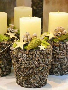 Christmas Tree Beads, Christmas Candle, Rustic Christmas, Winter Christmas, Christmas Home, Christmas Wreaths, Christmas Arrangements, Christmas Centerpieces, Christmas Decorations