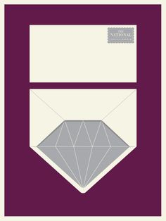 Funny idea for a wedding invite envelope liner. Poster for The National by Jason Munn of The Small Stakes.