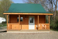 small log cabin exterior