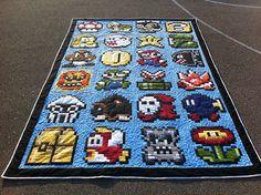Super Mario Quilt Done! by Karen @ The Recipe Bunny, via Flickr