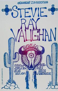 Stevie Ray Vaughan...Oh to be able to go back in time and go to this concert...$12.50 for general admission....