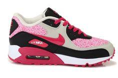 Women's Nike Air Max 90 Running Shoes Sail/Birch/Black/Pink Force UK Stockist