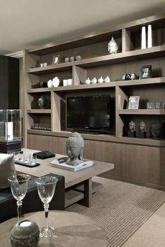 Tv wandkast Ref 2 Luxury Living Room, Modern Room Divider, Home Decor, Living Room Interior, House Interior, Interior Design Living Room, Interior Design, Living Design, Living Room Tv