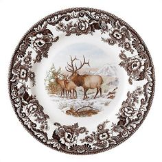 Spode Woodland Elk Dinnerware Set
