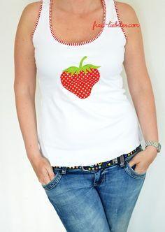 "free machine embroidery Design Strawberry ""regenbogenbuntes"": Freebie - Stickdatei - SWEETHEART"
