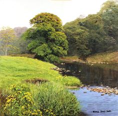 Michael James Smith, Original oil painting on panel, The River Wye