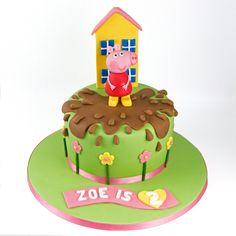 Peppa pig Cake #peppacake #peppapigcake #girlsbirthdaycakes #peppapig Peppa Pig Birthday Cake, Birthday Cake Girls, 2nd Birthday, Birthday Ideas, Tortas Peppa Pig, Peppa Pig Cakes, Lego Ninjago Cake, Pig Party, Novelty Cakes