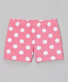 Pink Polka Dot Under Dress Shorts - Toddler & Girls