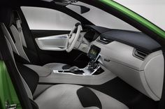 The 'SKODA VisionC' is a glimpse of SKODA interior design of the future. Interior and exterior design are in harmony, both asserting the overall impression of sleek, dynamic and elegant vehicle. Charger Srt8, Upcoming Cars, Internal Design, Volkswagen Group, Car Posters, Poster Poster, Geneva Motor Show, Aluminum Wheels, Range Rover