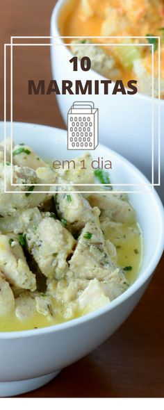 como preparar dez marmitas em um só dia! Easy Cooking, Cooking Recipes, Healthy Recipes, Diet Recipes, Comidas Fitness, Good Food, Yummy Food, Portuguese Recipes, Everyday Food