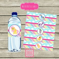 My Little Pony Water Bottle Labels DIY Instant Download by PartyPoshPrintables