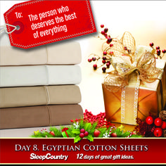 Day 8 - Egyptian Cotton Sheets