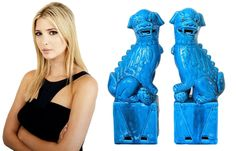Turquoise Foo Dog Bookends * Ivanka Trump Purchase  More Luxury Hollywood Interior Design Inspirations To Pin, Share & Inspire @ InStyle-Decor.com Beverly Hills (Use Our Red Pinterest Speed Pin Button Top Of Each Page Happy Pinning)