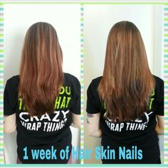 My personal results from only 1 week of the hair, skin, nails. IT WORKS!  www.skyeprichard.myitworks.com