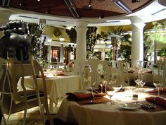 elegant restaurant designs | Classic Elegant Restaurant Interior Design of Botero, Las Vegas ...