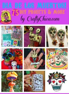 DIY Projects for Dia de Los Muertos from @craftychica including coloring pages, educational guides and projects