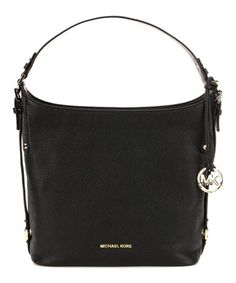 a53f1ac0b95448 Love this Black Bedford Belted Large Leather Hobo on #zulily! #zulilyfinds  Michael Kors