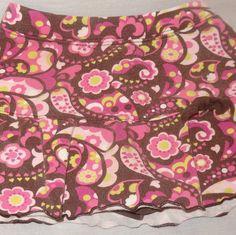 Skort Floral Pink Brown Green Size 3T Playwear Essentials Skirt Short Combo Girl #PlaywearEssentials #Skort #Everyday
