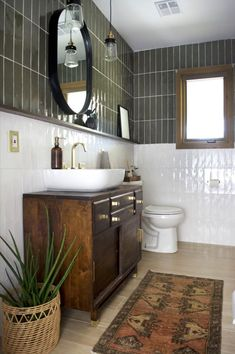 Home Interior Design .Home Interior Design Bathroom Renos, Bathroom Interior, Bathroom Ideas, Bathroom Organization, Tiled Walls In Bathroom, Boho Bathroom, Master Bathrooms, Bathroom Designs, Bathroom Green