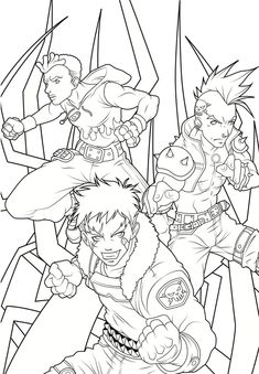 Dover Publications Sample: Creative Haven Manga Coloring Book