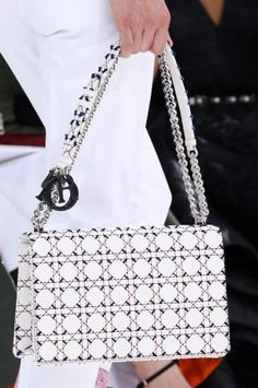 The Top 7 Accessory Trends of Spring 2015 – Vogue - Christian Dior What's Black and White and Dior all over? This IT bag from the SS 2015 collection.