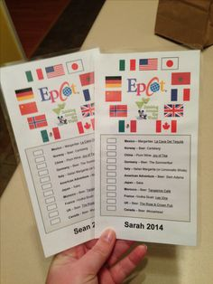 "EPCOT for adults - our homemade ""passports"" to drink around the world!"