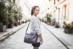 Lina by Léa Toni - Gris - Leather bag made in Italy