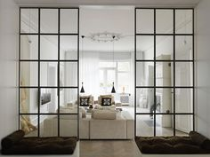 Creative Tips Can Change Your Life: Room Divider Kitchen Decor room divider wall storage.Portable Room Divider Classroom bamboo room divider home depot. Bamboo Room Divider, Glass Room Divider, Living Room Divider, Room Divider Walls, Glass Partition Wall, Window Glass, Glass Screen, Glass Door, Fabric Room Dividers