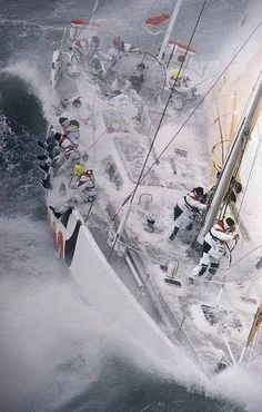 The World's Toughest Yacht Race' the BT Global Challenge, 1996. - via Michael Allen's photo on Google+