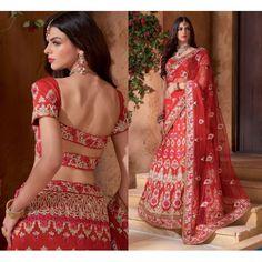 Pinalika heavy red bridal lehenga
