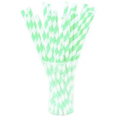 Winter Holiday Party Supplies Christmas Cocktail Straws Green with Red Triangles Paper Straws Paper Straws Cookie Exchange Party Straws