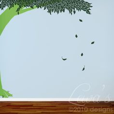 Maybe something that Lauren might like. Lush Tree Wall Decal by lewasdesigns on Etsy, $90.00