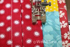 Machine stitched quilt hanging sleeve