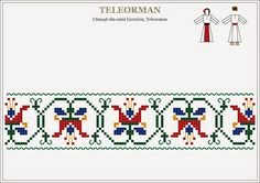 Hardanger Embroidery, Folk Embroidery, Embroidery Patterns Free, Beading Patterns, Embroidery Stitches, Cross Stitch Borders, Cross Stitch Flowers, Cross Stitch Designs, Cross Stitch Patterns