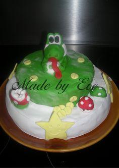 """Gâteau """"Yoshi"""" pour l'anniversaire de mon fils"""